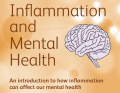 Front image of an orange coloured booklet on Inflammation and Mental Health