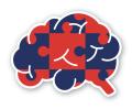 The Encephalitis Society Logo red and blue jigsaw brain
