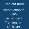 Blue tile, with words intro to recruitment training