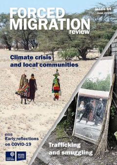 Cover of Forced Migration Review issue 64