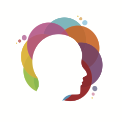 Mental Health logo image of head surrounded by colourful bubbles