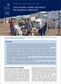 Cash transfer models and debt in the Kalobeyei settlement