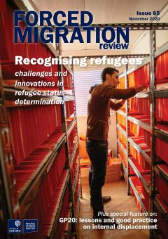cover image of the publication Forced Migration Review 65