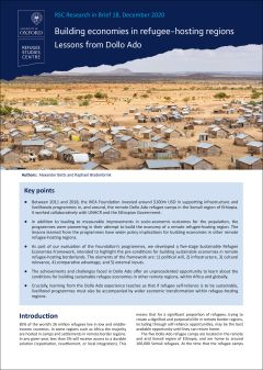 Building economies in refugee-hosting regions: lessons from Dollo Ado