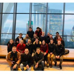 Kessler lab group picture during lab away day in London 2018 at Sky Gardens.