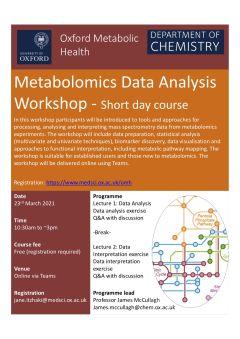 Metabolomics flier