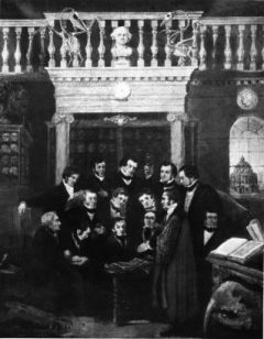 A small group gathers at a Kidd lecture