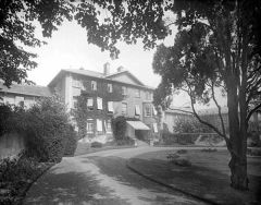Historic photo of the Warneford Hospital, whose original listed buildings will be restored and preserved