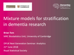 Mixture models for stratification in dementia research
