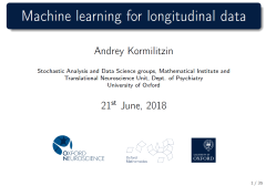 Machine learning for longitudinal data