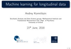 Machine learning for longitudinal data