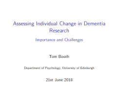 Assessing Individual Change in Dementia Research