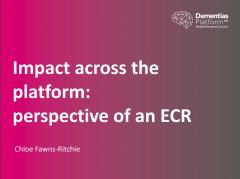 Impact across the platform: an ECR perspectiv