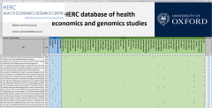 HERC database of health economics and genomics studies