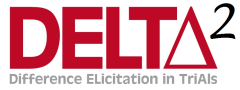 Logo for the DELTA2 project - Difference elicitation in trials