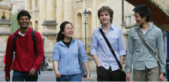 Students walking in Oxford