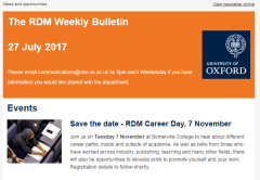 The RDM Weekly Bulletin