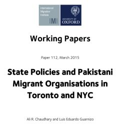 State Policies and Pakistani Migrant Organisations in Toronto and New York City