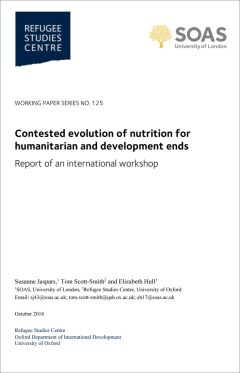 Contested evolution of nutrition for humanitarian and development ends