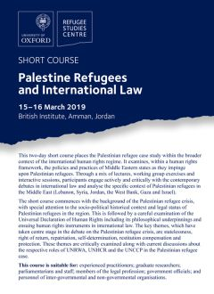 Palestine Refugees and International Law 2019