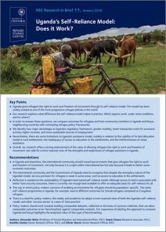 Research in Brief: Uganda's Self-Reliance Model: Does it Work?
