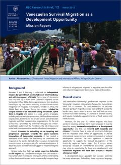 Research in Brief: Venezuelan Survival Migration as a Development Opportunity