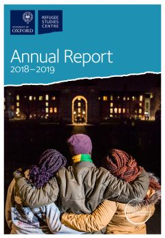 Report cover showing a family from the DRC in Ireland