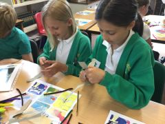 Art-based workshop at Little Milton School