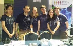 6 Ludwig Oxford Researchers pose by the stall at the Cheltanham Festival