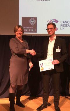 Mike Barnkob receiving the 2017 Ita Askonas Award