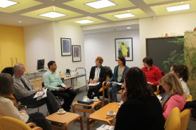 Researchers from the lab involved in training occuptational therapists working with stroke survivors