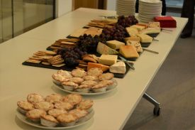 Food at the BioEscalator Christmas party