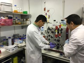 Arturo and Cesar in the lab - March, 2016