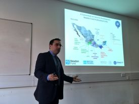 Arturo showing Mexico map in presentation in 14th March, 2016