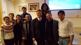 Dr. Kuri Morales with NDM Mexico staff and Tropical Medicine Global Health MSc students