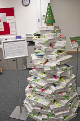 A paper tree by the Admin Office