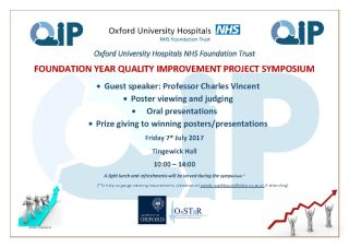 Foundation year quality improvement project symposium 1