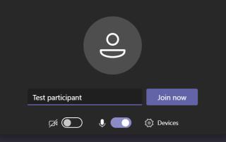 Screenshot showing the join meeting window