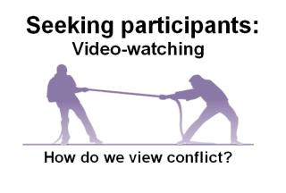 Video watching study how do we view conflict