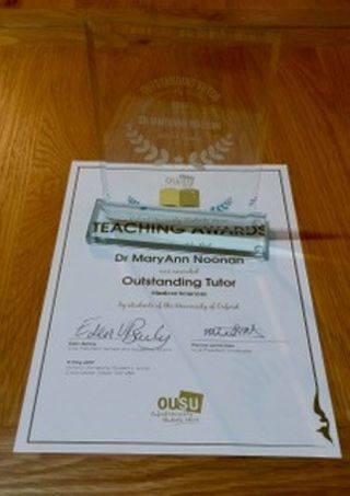 Congratulations to maryann noonan for being awarded the ousu outstanding tutor award for msd 2