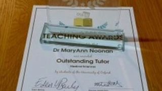 Congratulations to MaryAnn Noonan for being awarded the OUSU Outstanding Tutor Award for MSD