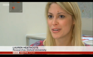 Phd student lauren heathcote interviewed on bbc south today about her research into chronic pain