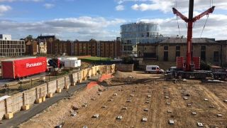 Construction gets underway for new Experimental Psychology temporary home