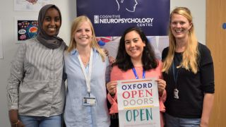 Reseachers welcome visitors at oxford open doors