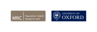 MRC Population Health Research Unit Logo and Unversity of Oxford logo