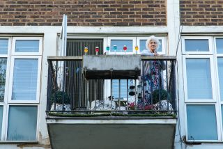 Rene (87), from Poplar, has wonderful memories of playing as a child at Limehouse Pier: 'You do miss seeing people, don't you? And if you noticed, I'm lucky because my balcony looks out onto Canary Wharf, the road, people walk through. I am lucky but a few of the old girls I know they're shut on about the 17th floor, no balcony, nothing - like being in a box and I think one of them, she does go out, she said 'I've got to, I walk over to Asda… and I come back, at least I've had that break.' So really, in one way, I am lucky what I've got, I have got an outlet, a lot of the elderly haven't got that outlet. We lived through the war but at least we could go out and you took a chance, whether you come back or not.'