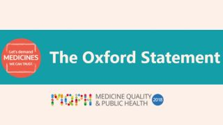 The oxford statement lets demand medicines we can trust