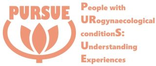 Logo with text: PURSUE - People with urogynaecological conditions: understanding experiences.