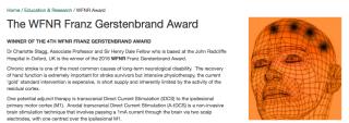 Charlie wins wfnr franz gerstenbrand award 1