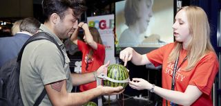 Research group demonstrate brain stimulation using watermelons